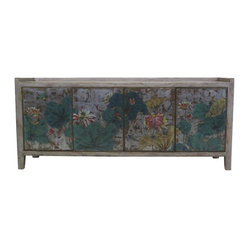 Violetta Gray Tall Sideboard Painted Collection