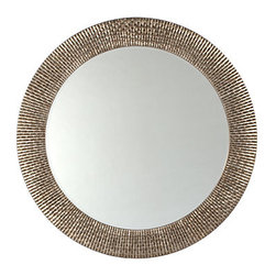 Z Gallerie - Bergmann Mirror - This mirror is a simpler, more modern interpretation of a starburst mirror. Its antiqued metal finish would work well in many spaces.