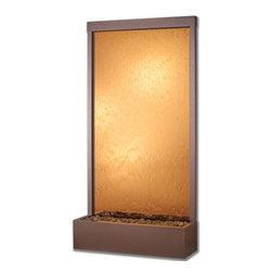 Bluworld - 8' Copper Vein Grande with Bronze Mirror Fountain - Make a statement in your home or business with the Grande series from Bluworld water feature. The GR8CB water fountain features a bronze mirror panel and copper vein frame. These water features are designed for years of use and enjoyment. Rated for all weather conditions, they can be used indoors or out.Fully assembled when delivered