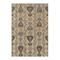 Couristan - Sierra Vista Scofield Rug 4097/0579 - 2' x 4' - Big, bold Ikat patterns are a great way to show off your style personality, as they are always in season. For a truly eclectic feel, mix and match with other patterns. To keep your Sierra Vista area rug the center of attention, pair with neutral accents. With their warm, welcoming aesthetic, these floor coverings are sure to turn any room into the go-to hang out spot.