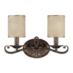 """Capital Lighting - Capital Lighting 1117-510 2 Light 14.75"""" Wide Bathroom Vanity Fixture from the R - Capital Lighting 1117-510 Reserve Collection 2 Light 14.75"""" Wide Bathroom Vanity FixtureClassic styling accented by the Moonlit Mica shades, this two light vanity fixture is ideal for the traditionalist.Features:"""