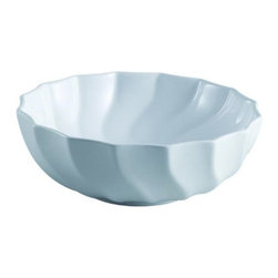 Kingston Brass - Odyssey White China Vessel Bathroom Sink without Overflow Hole EV9143 - The Odyssey vessel sink features a wide circular body with facets of hollow lines revolving around the outer and inner basin.  The depth of the sink is made for vessel or wall-mount faucet application giving your bathroom a unique look. The surface is refined with the finest vitreous china to prevent from scratches and suitable for those seeking a classic-style theme for their bathroom. Manufacturer: Kingston BrassModel: EV9143UPC: 663370097522Product Name: White China Vessel Bathroom Sink without Overflow HoleCollection / Series: OdysseyFinish: WhiteTheme: ClassicMaterial: CeramicType: SinkFeatures: Finest vitreous china vessel with high chemical and thermal shock resistance