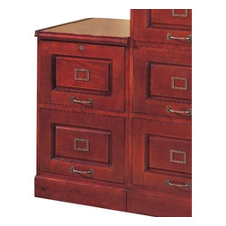 "Coaster - 2 Drawer File (Cherry) By Coaster - Cherry Finish 2 Drawer Legal/Letter File Filing Cabinet with Lock. Dimensions: 18.75""W x 21""D x 30""H. Finish: Cherry. Material: Wood. File Cabinet for legal and letter size files. Two storage drawers with lock. Antique brass finish hardware. Details and quality of this file cabinet add warmth and beauty to your home office."