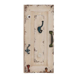 """Benzara - Wall Hook with Utility and Style in Distressed Finish - Wall Hook with Utility and Style in Distressed Finish. Add elegance to your home decor with this wood metal wall hook 11""""W, 24""""H that brings together utility and style with its attractive design. It comes with a following dimensions 11""""W x 5""""D x 24""""H."""