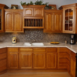 "Rustic Hickory 30x15 Plate Rack - The Rustic Hickory rta kitchen cabinet collection offers a countryside charm with its beautiful solid hickory, arch-door. If you?re looking to enhance your kitchen but want something more natural than this is the cabinet for you. The Rustic Hickory cabinets are well-crafted and timeless cabinets. Width 30"" Height 15"" Plate rack that holds 10 plates."