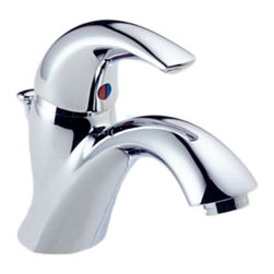 Delta - Delta 583LF-WF CSpout Single Handle Centerset Lavatory Faucet (Chrome) - Delta 583LF-WF C-Spout Collection has a distinct and simple design  with an arching spout. The Delta 583LF-WF is a one handle Lavatory Faucet in Chrome.