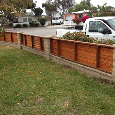 Modern Fencing by BB Custom Redwood