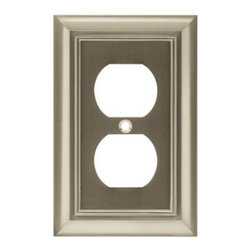Liberty Hardware - Liberty Hardware 64234 Architectural WP Collection 3.15 Inch Switch Plate - A simple change can make a huge impact on the look and feel of any room. Change out your old wall plates and give any room a brand new feel. Experience the look of a quality Liberty Hardware wall plate. Width - 3.15 Inch, Height - 4.9 Inch, Projection - 0.2 Inch, Finish - Satin Nickel, Weight - 0.24 Lbs.