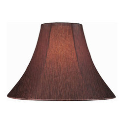"""Lite Source - Lite Source CH1142-18 Accessories Shades in Red - Red Bell Shade - 7""""Tx18""""Bx12.50""""Sl"""