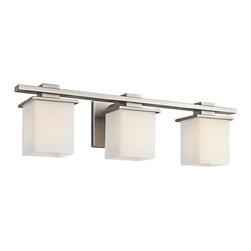 KICHLER - KICHLER 45151AP Tully Transitional Bathroom / Vanity Light - May be installed with glass Up or Down