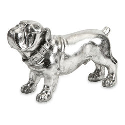 Maximus Stick Silver Dog Statue - Bulldog lovers beware - this little guy is sure to steal your heart. With loveable features and silver finish, this dog figurine is a great gift for any collector or bulldog enthusiast.