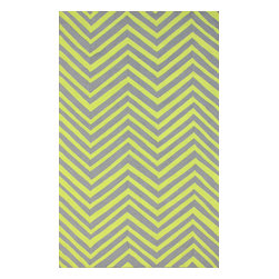 nuLOOM - 5'x8' Grey Hand Hooked Area Rug Chevron - Made from the finest materials in the world and with the uttermost care, our rugs are a great addition to your home.