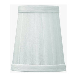 """Fredrick Ramond - Fredrick Ramond-FR42000SH-Cortina - 4"""" Shade Only - Cortina's lavish strands of crystal beads drape and flow outward for an opulent effect. A gleaming center ball and subtle tiered candles of Polished Nickel pair with a decorative chain for added drama. Optional Silver Chiffon pleated shades increase its luxurious feel."""