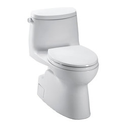 Toto - Toto | Carlyle II One-Piece Toilet - Made by TOTO USA.The spacious Carlyle II One-Piece Toilet is an ideal addition to modern bathrooms. The sleek form is constructed from premium Vitreous china that resists bacteria, scratches, and mold. Complete with a chrome trip lever and toilet seat. Features: