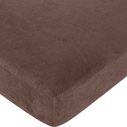 Sweet Jojo Designs - Ethan Espresso Chocolate Microsuede Crib & Toddler Sheet - The Ethan fitted crib sheet will help complete the look of your Sweet Jojo Designs nursery. This Ethan Espresso Chocolate Microsuede cotton sheet fits all standard crib and toddler mattresses and is machine washable for easy care.