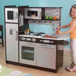 Kidkraft - Kids Uptown Kitchen in Espresso Color - This is very beautiful Uptown Kitchen in Espresso Color for kids from vistastores. It has really very good adorable design that will remind you of your own childhoods. Large enough that multiple children can play at once. This is perfect for your favourite little chef. Your little one will have hours of fun with this Uptown Kitchen. This Uptown Kitchen in Espresso Color allows for hours of imaginative play. Your little chefs will love cooking up something yummy, and you'll love that they're getting used to the idea of doing the dishes.