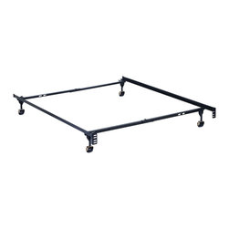 None - Serta Stabl-Base Premium Bed Frame - The Serta Stabl-Base Premium Bed Frame is an adjustable twin/full frame complete with four legs. Simple and easy assembly,this bed frame is made of high carbon recycled railroad rail steel for unparalleled strength and durability.