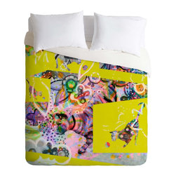 DENY Designs - DENY Designs Randi Antonsen Cats 4 Duvet Cover - Lightweight - Turn your basic, boring down comforter into the super stylish focal point of your bedroom. Our Lightweight Duvet is made from an ultra soft, lightweight woven polyester, ivory-colored top with a 100% polyester, ivory-colored bottom. They include a hidden zipper with interior corner ties to secure your comforter. It is comfy, fade-resistant, machine washable and custom printed for each and every customer. If you're looking for a heavier duvet option, be sure to check out our Luxe Duvets!