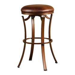 "Hillsdale - Hillsdale Kelford 26"" Backless Swivel Counter Stool in Antique Bronze - Hillsdale - Bar Stools - 4950826"