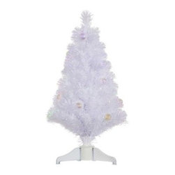 Vickerman 3 ft. White Fiber Optic Christmas Tree with Ball Ornaments - Get on to shopping or cooking or whatever you enjoy doing this holiday season when you open up the complete and appealing Vickerman 3 ft. White Fiber Optic Christmas Tree with Ball Ornaments. Everything you need is right here, from a durable, full-bodied tree to ball ornaments to a pleasing and innovative fiber-optic lighting system incorporated into each glittery ball.Specifications Shape: FullBase Width: 20.5 inchesNumber of Tips: 107Don't Forget to Fluff!Simply start at the top and work in a spiral motion down the tree. For best results, you'll want to start from the inside and work out, making sure to touch every branch, positioning them up and down in a variety of ways, checking for any open spaces as you go.As you work your way down, the spiral motion will ensure that you won't have any gaps. And by touching every branch you'll create the desired full, natural look.About VickermanThis product is proudly made by Vickerman, a leader in high quality holiday decor. Founded in 1940, the Vickerman Company has established itself as an innovative company dedicated to exceeding the expectations of their customers. With a wide variety of remarkably realistic looking foliage, greenery and beautiful trees, Vickerman is a name you can trust for helping you create beloved holiday memories year after year.
