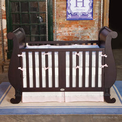 Chelsea Sleigh Crib in Espresso by Bratt Decor - Chelsea Sleigh Crib in Espresso by Bratt Decor