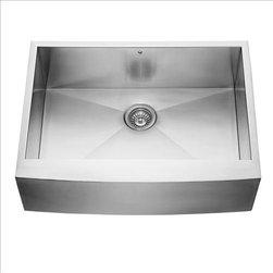 Vigo - VIGO VG3020C Farmhouse Kitchen Sink - VIGO delivers top quality and unique design in this 30-inch farmhouse, stainless steel, kitchen sink.