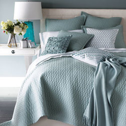 "SFERRA - SFERRA ""Bradley"" Quilted European Sham - Select color when ordering. Made of cotton with polyester fill. Machine wash. 26""Sq. Imported."