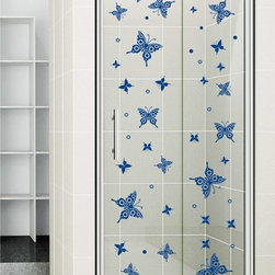 StickONmania - Shower Door Vinyl Decal #35 - These decals come with two of each element mirrored, you choose how to place them.A vinyl decal sticker that lets you choose how to decorate. Decorate your home with original vinyl decals made to order in our shop located in the USA. We only use the best equipment and materials to guarantee the everlasting quality of each vinyl sticker. Our original wall art design stickers are easy to apply on most flat surfaces, including slightly textured walls, windows, mirrors, or any smooth surface. Some wall decals may come in multiple pieces due to the size of the design, different sizes of most of our vinyl stickers are available, please message us for a quote. Interior wall decor stickers come with a MATTE finish that is easier to remove from painted surfaces but Exterior stickers for cars,  bathrooms and refrigerators come with a stickier GLOSSY finish that can also be used for exterior purposes. We DO NOT recommend using glossy finish stickers on walls. All of our Vinyl wall decals are removable but not re-positionable, simply peel and stick, no glue or chemicals needed. Our decals always come with instructions and if you order from Houzz we will always add a small thank you gift.