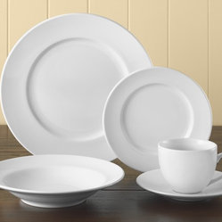 Brasserie All-White Dinnerware 5-Piece Place Setting