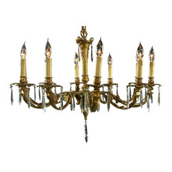 EuroLux Home - Large Consigned Vintage French Rococo Chandelier - Product Details