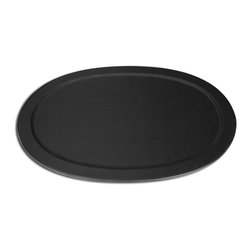 Dacasso 1000 Series Classic Leather Serving Tray, Black - This leather tray is perfect for a party.