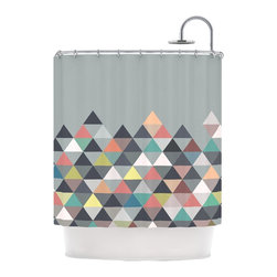 "Kess InHouse - Mareike Boehmer ""Nordic Combination"" Gray Abstract Shower Curtain - Finally waterproof artwork for the bathroom, otherwise known as our limited edition Kess InHouse shower curtain. This shower curtain is so artistic and inventive, you'd better get used to dropping the soap. We're so lucky to have so many wonderful artists that you'll probably want to order more than one and switch them every season. You're sure to impress your guests with your bathroom gallery in addition to your loveable shower singing."