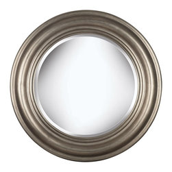 Kenroy - Kenroy Nobhill Wall Round Mirror X-72006 - The simple circular shape of this Kenroy Home round wall mirror allows it to easily blend into a wide variety of spaces from traditional to contemporary. The frame of this transitional mirror features traditional beveling, complimented by a classic and versatile Antique Silver finish.