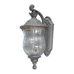 Craftmade - Craftmade Ultra Outdoor Wall Sconce X-56-446Z - Kick things up a notch with the Ultra Outdoor Wall Sconce . The Bronze Age finish on cast aluminum preserves quality and durability. The antique accents and flavor make this a welcome addition to your garden, main drive, or porch. Enjoy the cool lines of the seeded contoured melon glass, which will put your mind at ease.