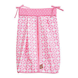 Trend Lab - Trend Lab Diaper Stacker - Lily - The Trend Lab Diaper Stacker - Lily measures 12 in x 8 in 20.25 in and holds up to three dozen diapers. Ties allow for easy attachment to most dressers and Changing tables.