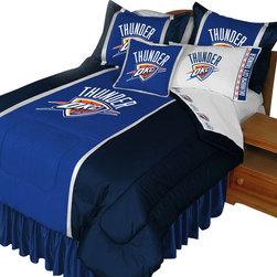 Store51 LLC - NBA Oklahoma City Thunder Comforter Set Basketball Bedding, Queen - Features: