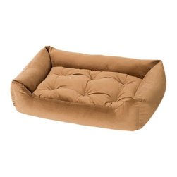 Jax & Bones - Jax & Bones Everyday Nest Bed Caramel X-Large - Built like a sofa with extra length for dogs who like to stretch. Made with heavy weight velour fabrics and filled with Sustainafill, our signature eco-friendly fiber. Fabric is 100% machine washable.