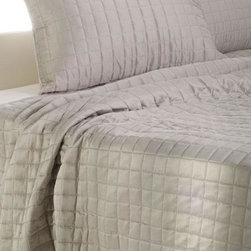 Home Decorators Collection - Harper Bedding Set - The Harper Bedding Set features a reversible quilt and shams that will add texture and color to any existing room decor or can be used as a simple color pallette. Quilted in a small square pattern, this usefull set will never go out of style. Order yours now. Queen set includes: Queen quilt, 2 standard shams. King set includes: King quilt, 2 King shams.