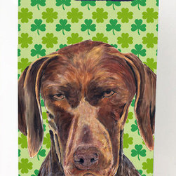 Caroline's Treasures - Shorthaired Pointer Shamrock Portrait Michelob Ultra Koozies for slim cans - German Shorthaired Pointer St. Patrick's Day Shamrock Portrait Michelob Ultra Koozies for slim cans SC9315MUK Fits 12 oz. slim cans for Michelob Ultra, Starbucks Refreshers, Heineken Light, Bud Lite Lime 12 oz., Dry Soda, Coors, Resin, Vitaminwater Energy, and Perrier Cans. Great collapsible koozie. Great to keep track of your beverage and add a bit of flair to a gathering. These are in full color artwork and washable in the washing machine. Design will not come off.