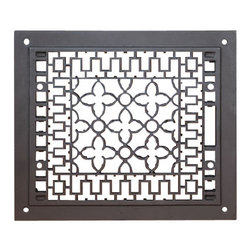 "MINUTEMAN INTERNATIONAL CO. - 12"" x 14"" Cast-iron Grille, Black, Fits 10"" x 12"" Opening - 12"" x 14"" Cast-iron Grille, Black, Fits 10"" x 12"" Opening"