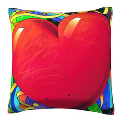 Custom Photo Factory - Heart shape with Mosaic Pillow.  Polyester Velour Throw Pillow - Heart shape with Mosaic Pillow. 18 Inches x 18  Inches.  Made in Los Angeles, CA, Set includes: One (1) pillow. Pattern: Full color dye sublimation art print. Cover closure: Concealed zipper. Cover materials: 100-percent polyester velour. Fill materials: Non-allergenic 100-percent polyester. Pillow shape: Square. Dimensions: 18.45 inches wide x 18.45 inches long. Care instructions: Machine washable