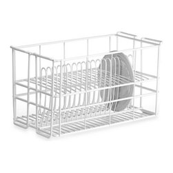 Ten Strawberry Street Ltd. - Wire 20 Dinner Plate Rack by Ten Strawberry Street - This dinner plate rack is the perfect solution for helping you organize your dinnerware. You can use it to hold the plates safely while you professionally clean them, to safely transport them from one place to another, or to store them.
