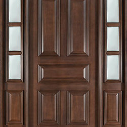 Classic Series Wood Entry Door, Single with 2 Sidelites - As the entryway to your home, the front door should be your main focus, as it can make or break the curb appeal of your home.