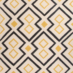 Jaipur Rugs - Hand-Tufted Moroccan Pattern Polyester Yellow/Black Area Rug ( 3.6x5.6 ) - A youthful spirit enlivens Esprit, a collection of contemporary rugs with joie de vivre! Punctuated by bold color and large-scale designs, this playful range packs a powerful design punch at a reasonable price.