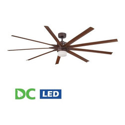 "Fanimation - Fanimation Odyn 84"" 9 Blade DC Ceiling Fan - Blades, LED Light Kit, and Remote C - Included Components:"