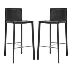 """Safavieh - Safavieh Jason 30"""" Bar Stool Set of 2 X-2TES-B2002XOF - Choose the 30"""" Jason barstool for clean, contemporary seating at your kitchen counter or family room bar."""