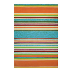 Couristan - Covington Sherbet Stripe Rug 2296/3067 - 2' x 4' - Complementing trends in both outdoor furniture and interior fashions, the Covington Collection is a go-to resource for home decorators with lots of spaces to cover. Add warmth and worry-free fashion to virtually any area of the house with these next generation performance quality area rugs, where style meets strength and design meets durability.