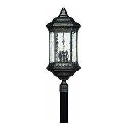 Hinkley - Hinkley Regal Four Light Black Granite Post Light - 1727BG - This Four Light Post Light is part of the Regal Collection and has a Black Granite Finish. It is Outdoor Capable.