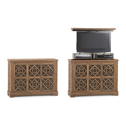 La Lune Collection - Rustic TV Lift Cabinet by La Lune Collection - Rustic TV Lift by La Lune Collection