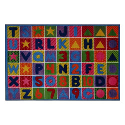 Fun Rugs - Kids Supreme 8'x11' Rectangle Multi Area Rug - The Supreme area rug Collection offers an affordable assortment of Kids stylings. Supreme features a blend of natural Multi color. Machine Made of 100% Nylon the Supreme Collection is an intriguing compliment to any decor.